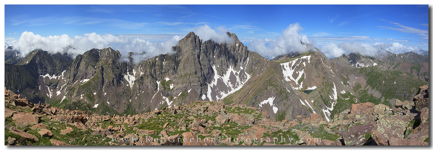 From one 14,000 foot peak (Humbolt) to another two peaks (Crestone Needle and Crestone Peak), the views of the Colorado landscape are remarkble.