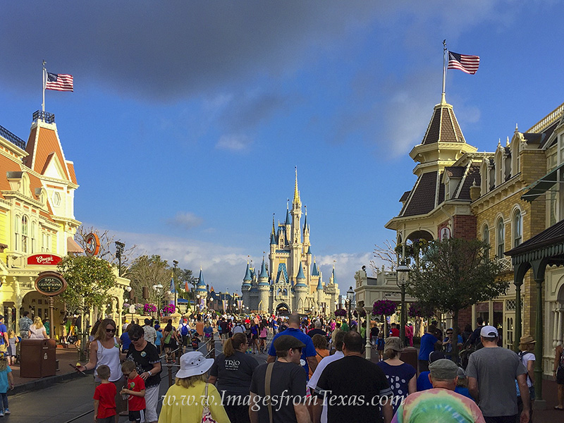 The Cinderella Castle greets visitors at the Magic Kingdom