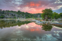 Sunrise at Pedernales Falls