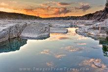 Pedernales Falls Images-January Sunset 1
