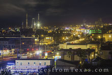 South padre island, padre blvd, night, road, street lights, long exposure, texas coast