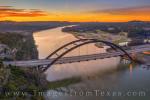 Aerial - 360 Bridge Winter Sunrise 1216-1