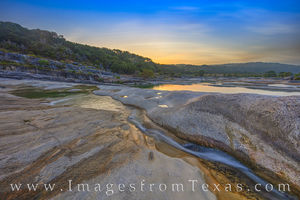 August Sunrise along Pedernales Falls 825-1