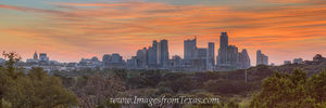 Austin Skyline October Sunrise 3 Pano