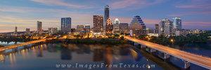 Austin Skyline Pano a Summer Eve 3