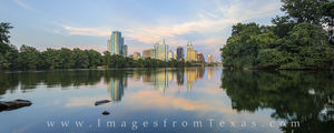 Austin Skyline Panorama in August 3