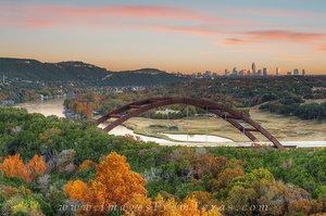 Austin Skyline and 360 Bridge on a November Evening