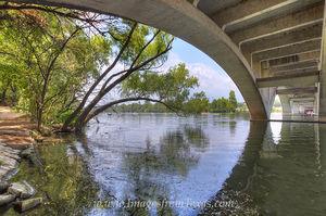 Lady Bird Lake Summer from Lamar Bridge
