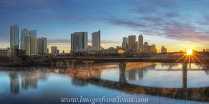 Austin Sunrise from Lamar Bridge Pano 2