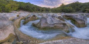Barton Creek Sculpture Falls Panorama 1