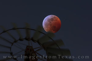 Blood Moon over a Windmill in the Hill Country 4