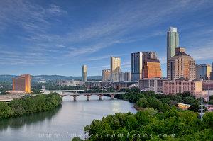 Blue Sky Morning over Austin, Texas