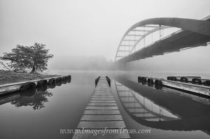 Boat Ramp at the 360 Bridge Black and White 1