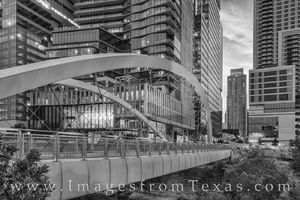 Butterfly Bridge - Austin, Texas Black and White 824-1