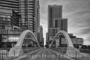 Butterfly Bridge - Austin, Texas Black and White 824-4