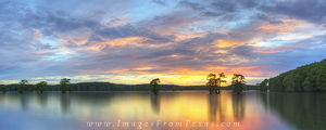 Caddo Lake Sunset Panorama 1