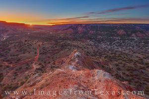 Capitol Peak Sunrise - Palo Duro Canyon 1125-1