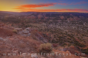 Capitol Peak Sunrise - Palo Duro Canyon 1125-1