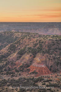 Colors of Palo Duro Canyon Sunrise