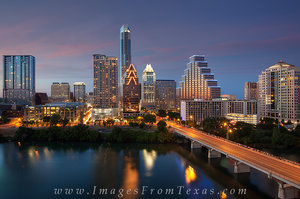 Congress Bridge and Downtown Austin