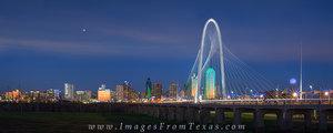 Dallas Skyline and Bridge Panorama 1