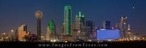Dallas Texas Skyline December Panorama 1