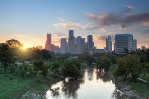 Houston Sunrise over Buffalo Bayou