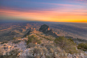 El Capitan from Guadalupe Peak after Sunset 1