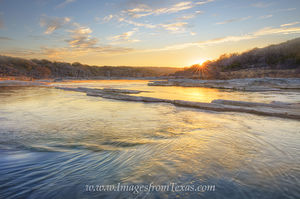 February Sunrise on the Pedernales River 2