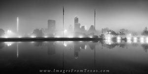 Foggy Austin Skyline before Sunrise Blac