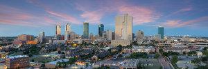 Fort Worth Skyline Evening Panorama 2