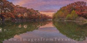 Garner State Park Fall Sunset Pano 114-1