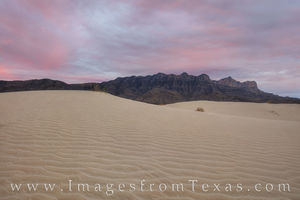 Guadalupe Mountains - Salt Basin Dunes at Sunset 1