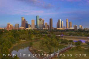 Houston Skyline November Evening 1118-1