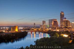 Lady Bird Lake and Downtown Austin, Tx