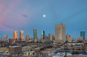 Late Afternoon Skyline of Fort Worth Tex