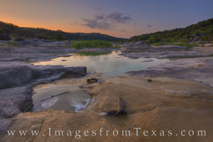 Late August Sunrise on the Pedernales 825-3