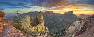 Lost Mine Trail Sunset Panorama 1 Big Bend