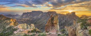 Lost Mine Trail Sunset Panorama 2 Big Bend