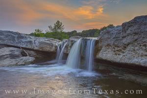 McKinney Falls at Sunset 520-5