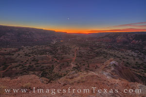 Moonrise from Capitol Peak, Palo Duro 1124-1