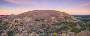 Morning Panorama from Enchanted Rock 1