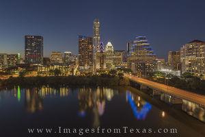 Nighttime Austin Skyline from the Hyatt 7-1