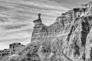 Palo Duro Canyon HooDoo in Black and White 1