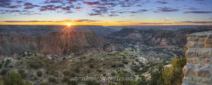 Palo Duro Canyon Sunrise Panorama 1