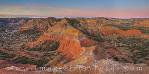 Panorama from Capitol Peak at Sunrise - Palo Duro 1125-1