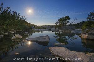 Pedernales Pool Moonset 1