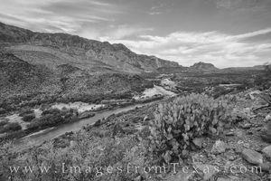 Rio Grande of Big Bend in Black and White 1