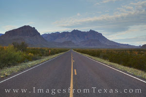 Road to the Chisos Mountains Morning 1