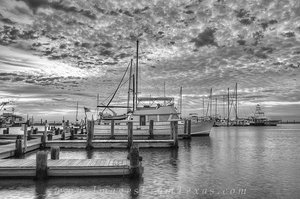 Rockport Harbor in Black and White 11